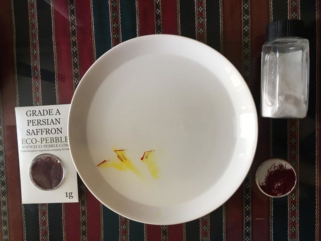 saffron test